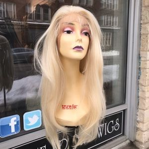 Full lace sale Blonde Long Wig Human hair Blende